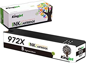 Kingjet Compatible Replacement for 972X Black Ink Cartridge Work with PageWide Pro 477dn, 477dw, 577dw, 577z, 552dw, 452dn, 452dw Printers, 1 Pack