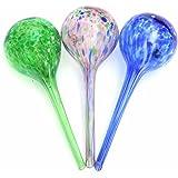 AsentechUK® 3x boules d'arrosage automatiques pour plantes, boules en verre, outil d'irrigation par gouttes (couleur aléatoire)