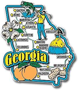 Georgia State Jumbo Map Magnet