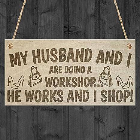 Amazon.com: Marido y I taller He funciona I Shop Novedad ...