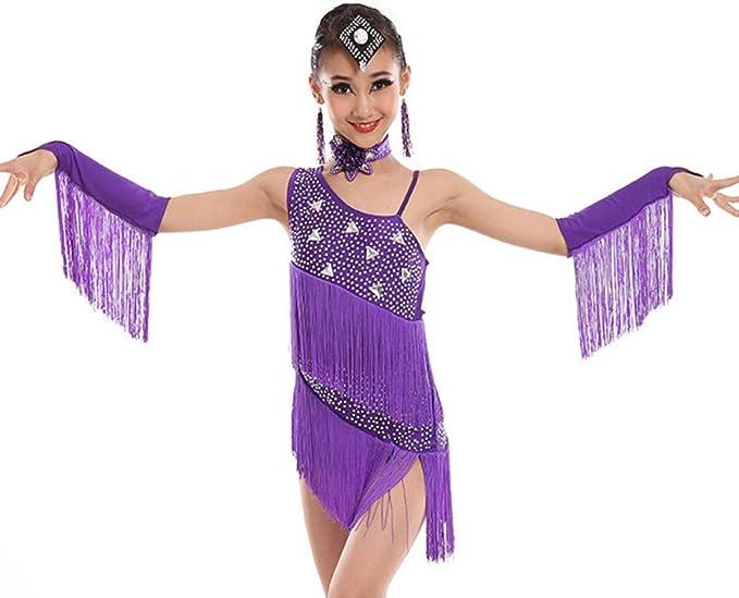 Trajes De Baile Latino para NiñOs Vestido De Baile Latino con ...