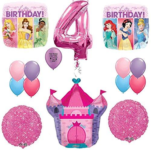 Disney Princess Party Supplies 4th Birthday Balloon Decoration Kit