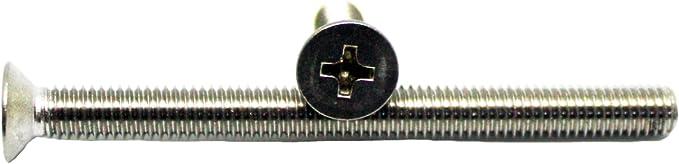DIN 965 Modellbauschrauben Senkschraube 100, DIN9021 - A2 - M2,5 M 2,5 Senkkopfschraube Kreuzschlitz