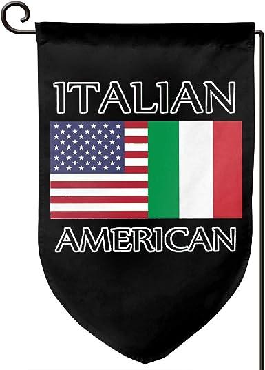 Shflagg09 Double Sided Garden Flag 12 5 X 18 Inches Italian American Flag Garden Decoration Flags Clothing