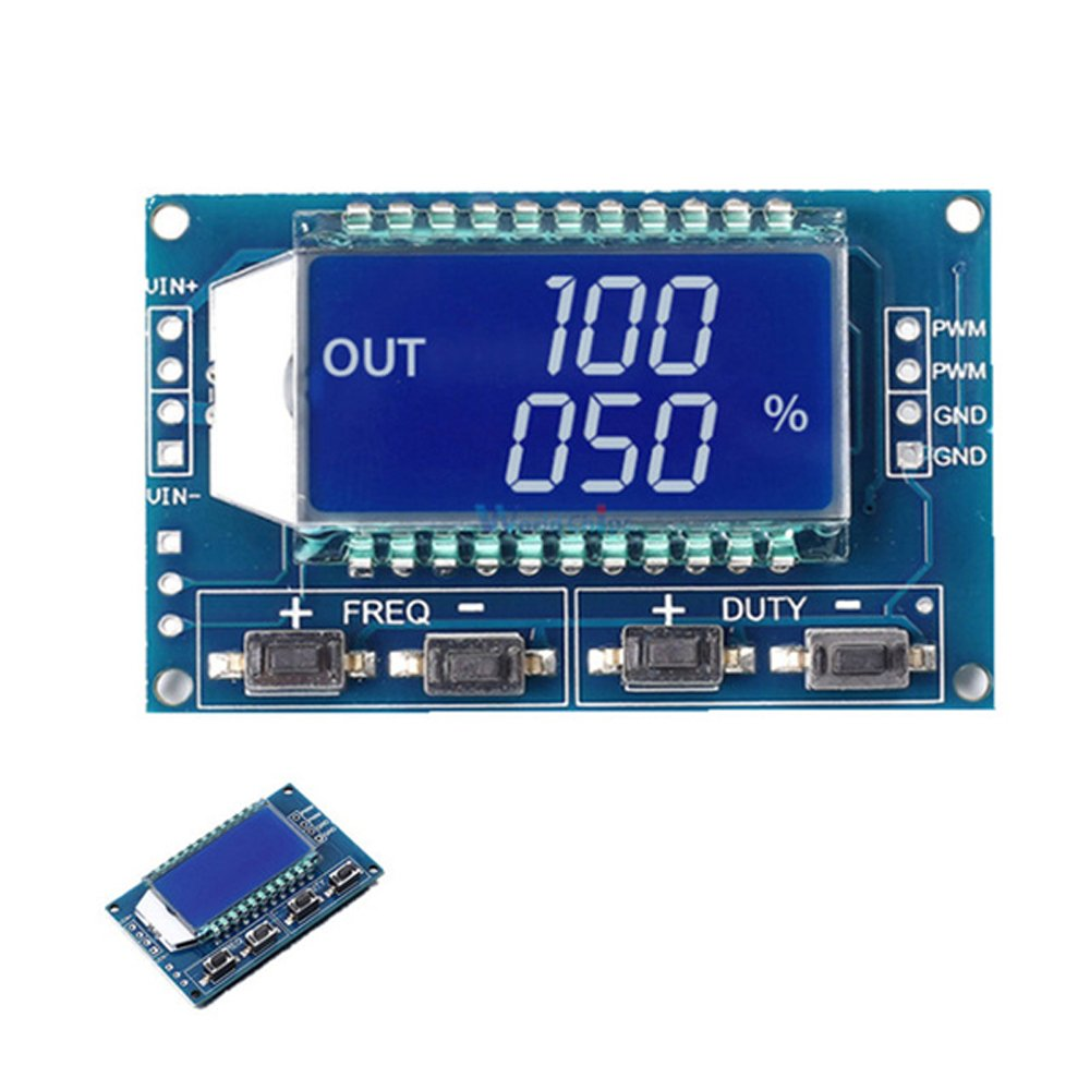 3pcs 1Hz-150Khz 3.3V-30V Signal Generator PWM Pulse Frequency Duty Cycle Adjustable Module LCD Display Board - Arduino Compatible SCM & DIY Kits