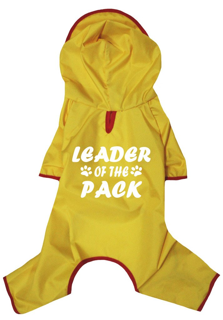 Petitebella Puppy Clothes Dog Dress Leader Of The Pack Novelty Raincoat (X-Large, Yellow)