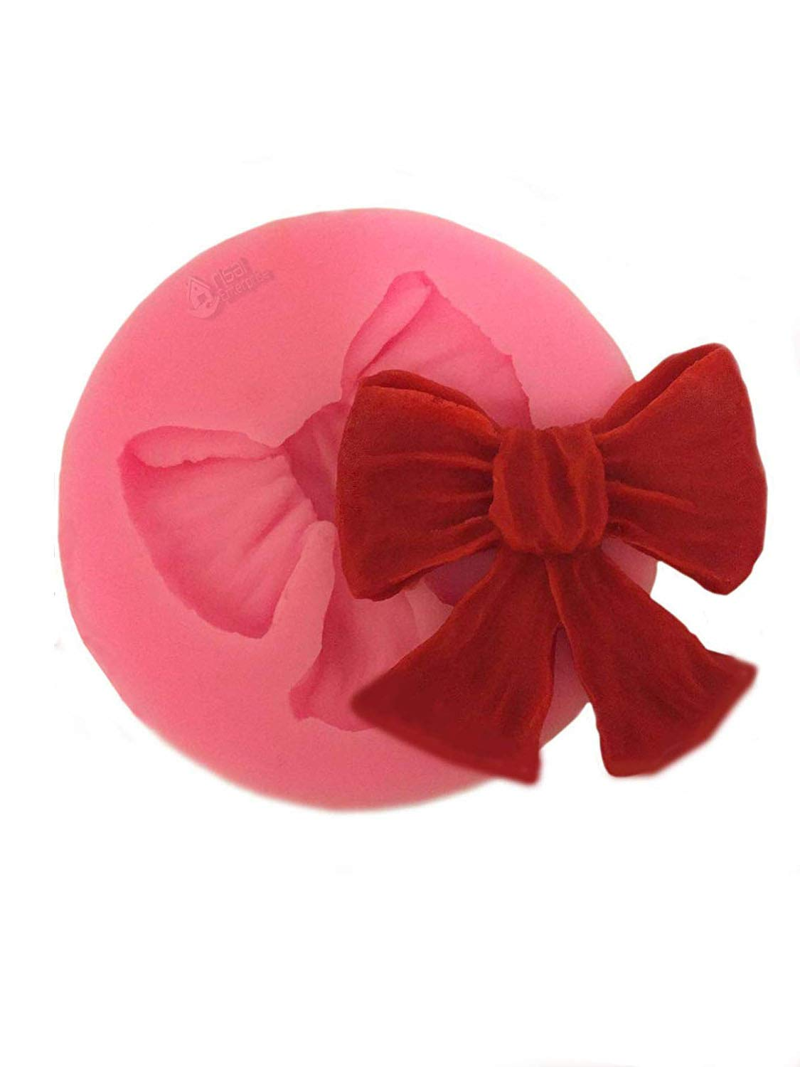 3Bow Ribbon Flower Silicone Mould Fondant Icing Cake Cupcake Topper Mold D  A+