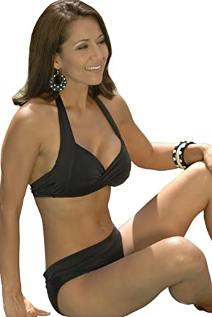 5c8d0f3e568fb Amazon.com: Ujena Classic Monroe Bikini Black Swimsuit Top Only: Clothing