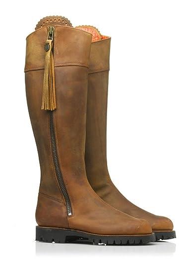 0ddf34308439 FAIRFAX   FAVOR Womens Imperial Explorer Boots Oak Leather  Amazon.co.uk   Shoes   Bags