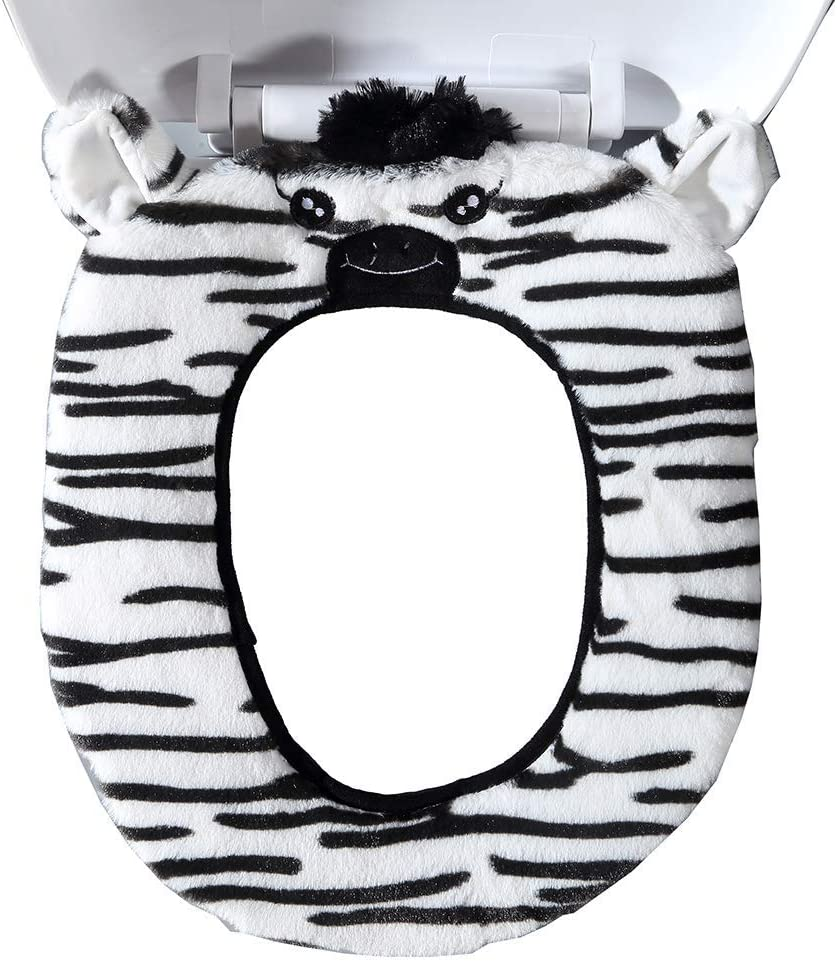 elk Gifts Treat Toilet Seat Cover Cute Animal Style Toilet Accessories Soft Plush Bathroom Warmer Mat