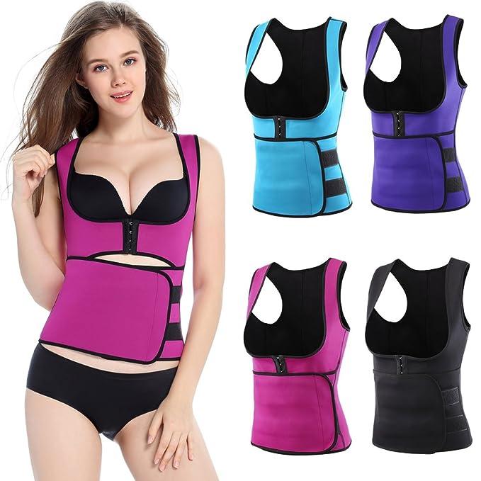 bedfc9e7cf Romacci Woman Body Shapers Slim Vest Tummy Training Corset Underbust  Control Shapewear Tank Top at Amazon Women s Clothing store