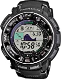 Casio Men's Pathfinder PRW2500-1A Black Silicone Quartz Watch with Digital Dial
