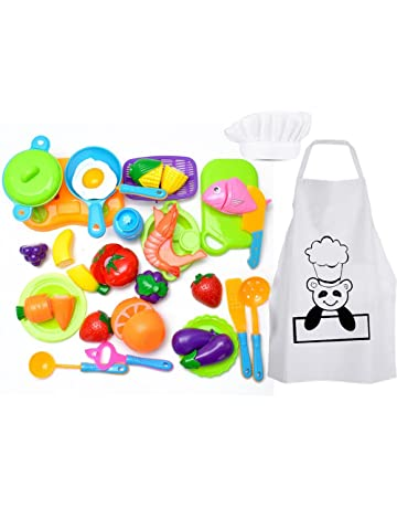 Harxin Taglio Frutta e Finti Alimenti Chef Cappello Grembiule 1a11dac1c328