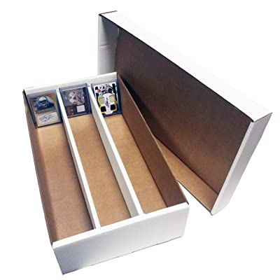 (1) SUPER Shoe 3 Row Storage Box (3000 Ct.) - Corrugated Cardboard Storage Box - Baseball,Football, Basketball, Hockey, Nascar, Sportscards, Gaming & Trading Cards Collecting Supplies by MAX PRO: Toys & Games