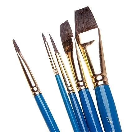A0127 pincel pinceles pintura pinceles Set de pinceles acuarela (pelo de  camello 5 piezas artista 248ae0aa9cd3