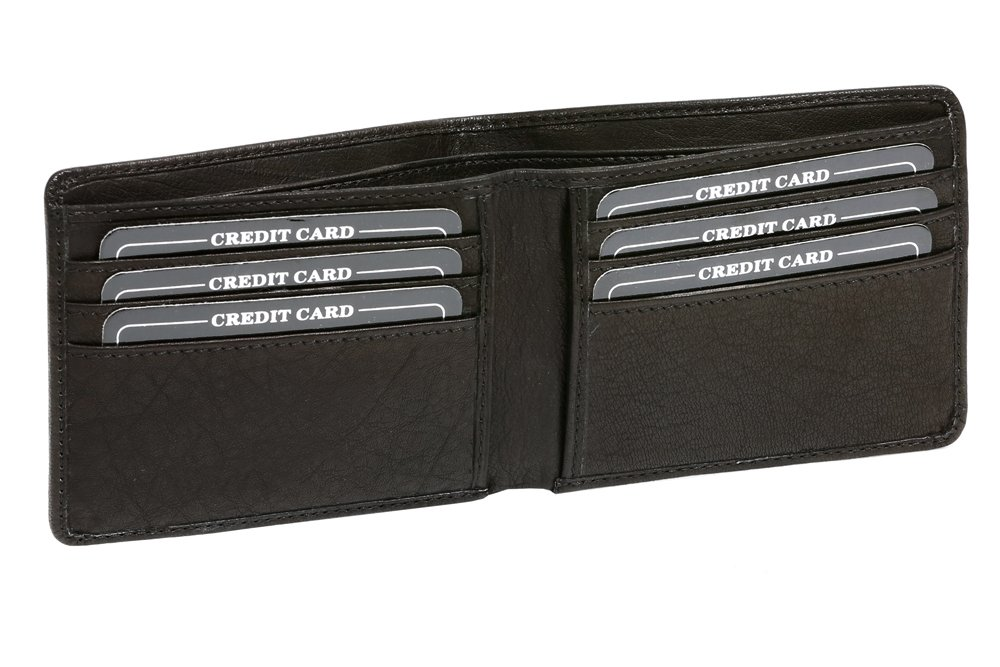 LEAS Kreditkartenhülle mit 2 Scheinfächern Echt-Leder, schwarz Card-Collection LE50001-01-01