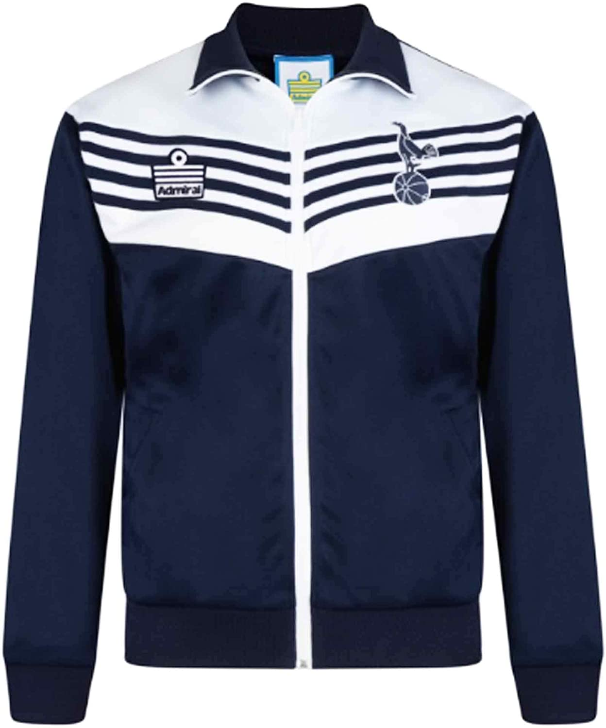 THFC Official Tottenham Football Crest 1970s Classic Retro Zipped Jacket 100/% Polyester