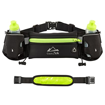 3e847c1298 GamutTek Hydration Running Belt With Water Bottles ideal for Marathon &  Fitness Training, Hiking & Exercise | Pockets Fits Smartphones iPhone 6 7/7  Plus 8/8 ...