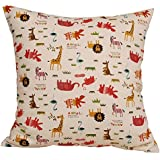 "TangDepot 100% cotton nature theme Throw pillow covers, Cushion Covers, Pillows Shells, 10 sizes option - (26""x26"", N01 Animals Giraffe)"