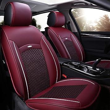 kompatibel mit BMW X1 GSC Sitzbez/üge Auto Komplett 5-Sitze Universal Autositzbez/üge Schonbez/üge Vorne Kunst Leder mit Airbag System X-LINE