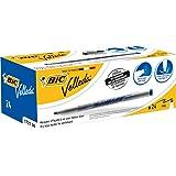 Bic Velleda 1721 06 Feutre effaçable à sec pour tableau blanc Pointe fine 1,5 mm Encre alcool Bleu Lot de 24