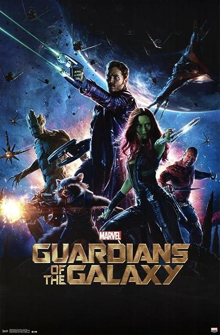 Marvel Cartel Guardianes de la Galaxy - una Hoja Nueva Pared ...
