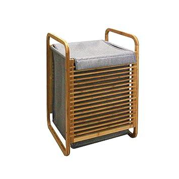 MERRINESS Wäschekorb Bamboo Washing Box Bin Ablagekorb Wäschekorb ...