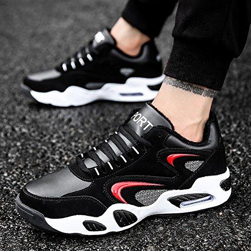 Men's Shoes Feifei Winter Fashion Keep Warm Non-Slip Cotton Shoes 3 Colors (Color : 02, Size : EU/41/UK7.5-8/CN42)