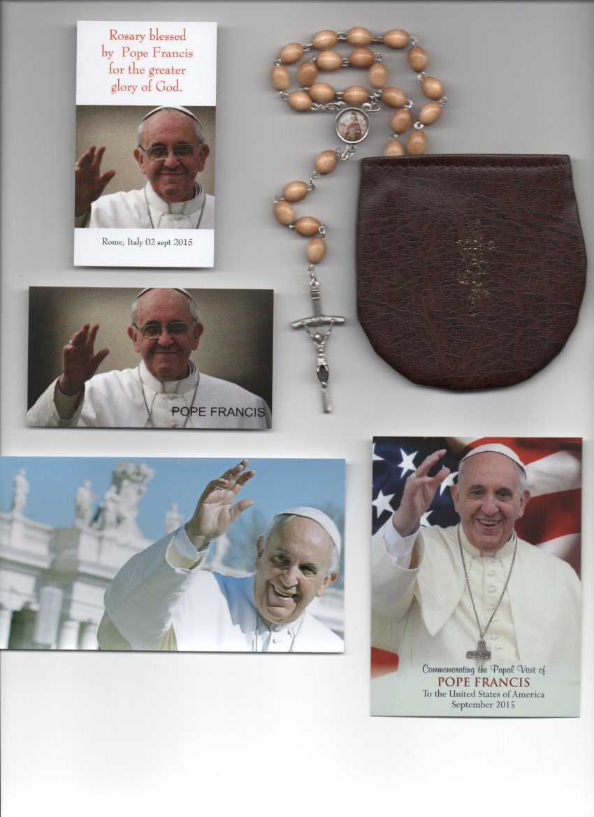 Saint Florian Beige Relic Rosary Blessed by Pope Francis on September 2, 2015 Patron of Firefighters