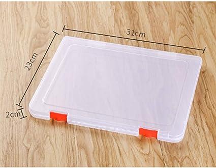 2 piezas Carpeta plástica A4 caja de archivo organizadores cajas de caja de almacenamiento Caja de cajas de archivo de pl¨¢stico transparente,fuentes de oficina, portadocumentos (31 * 23 * 2cm): Amazon.es: Oficina