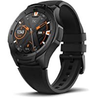 Mobvoi TicWatch S2, Wear OS by Google Fitness smartwatch for Outdoor Adventures, 5 ATM Waterproof and Swim-Ready, Durable, Compatible with iPhone and Android- Midnight