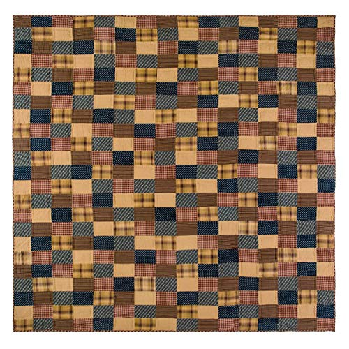 VHC Brands 10428 Patriotic Patch Luxury King Quilt 105x120
