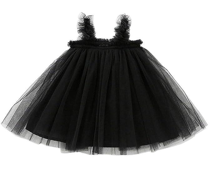 fd19c8cd2b5 GSVIBK Baby Girls Tutu Dress Toddler Infant Tulle Skirts Sleeveless Sundress  Mini Dress Bubble 5 Layers