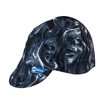b1504b187cbef9 Miller Genuine Arc Armor Ghost Skulls Welding Cap 7-3/8