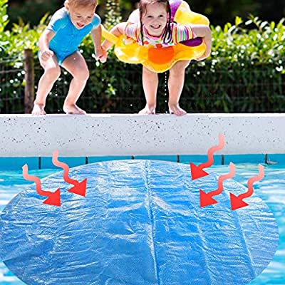 8ft Round Solar Pool Cover for 8//10//12//15ft Above Ground Swimming Pool Protector Ground Swimming Pool Protection Cover