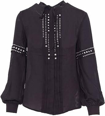 Guess camisa negra con tachuelas LILIA (L - Negro): Amazon.es: Ropa y accesorios