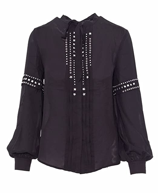 GUESS Camisa Negra con tachuelas Lilia (XS - Negro)