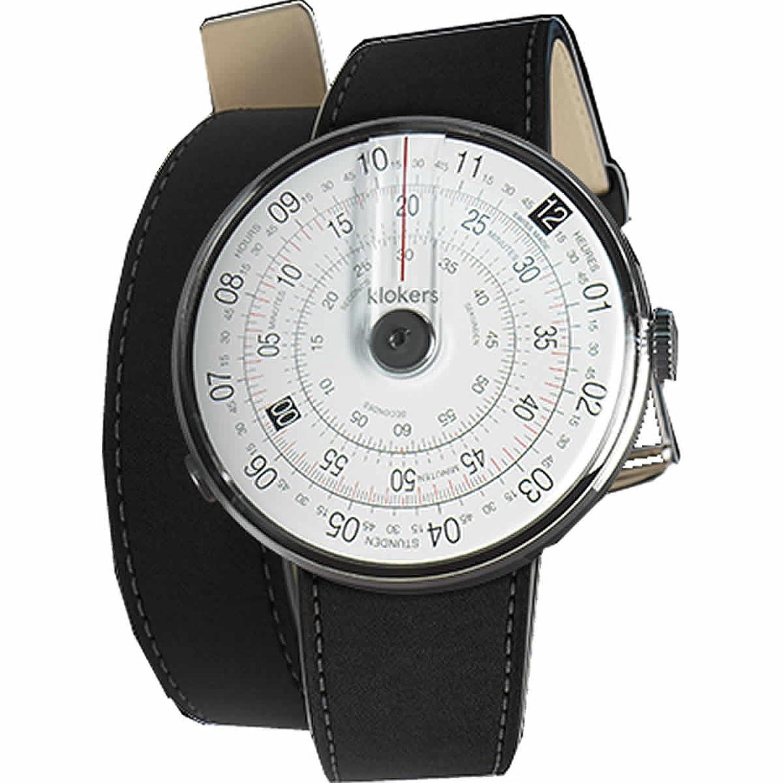 [クロッカーズ]Klokers ダイヤルポイントカラー ブラック 腕時計 KLOK-01-D2 と腕時計用ベルト 腕時計用ダブルストラップ ベルト ブラック KLINK-02 420C2 セット【正規輸入品】 B076GZZGC3
