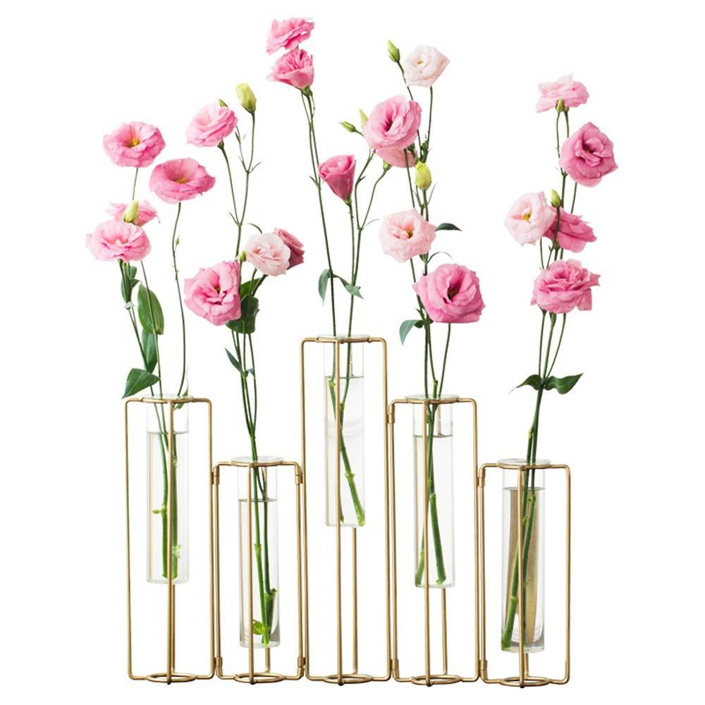 花瓶 - モダンなミニマリストテストチューブ花瓶、創造的なヨーロッパのフラワーアレンジメント透明なガラスの花瓶、北欧の透明なガラスの小さな新鮮な花 (Color : B) B07SZ1WKXN B