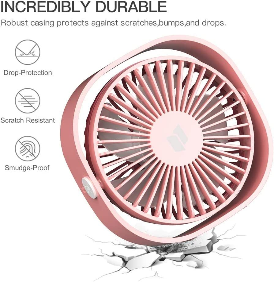 Pink Personalized and Convenient Mini Fan Cool in The Hot Summer AXZHYX Mini Fan Jiale Desktop Fan-HJCA19075525 Portable Personal Household Goods Office Quiet and Powerful Fan