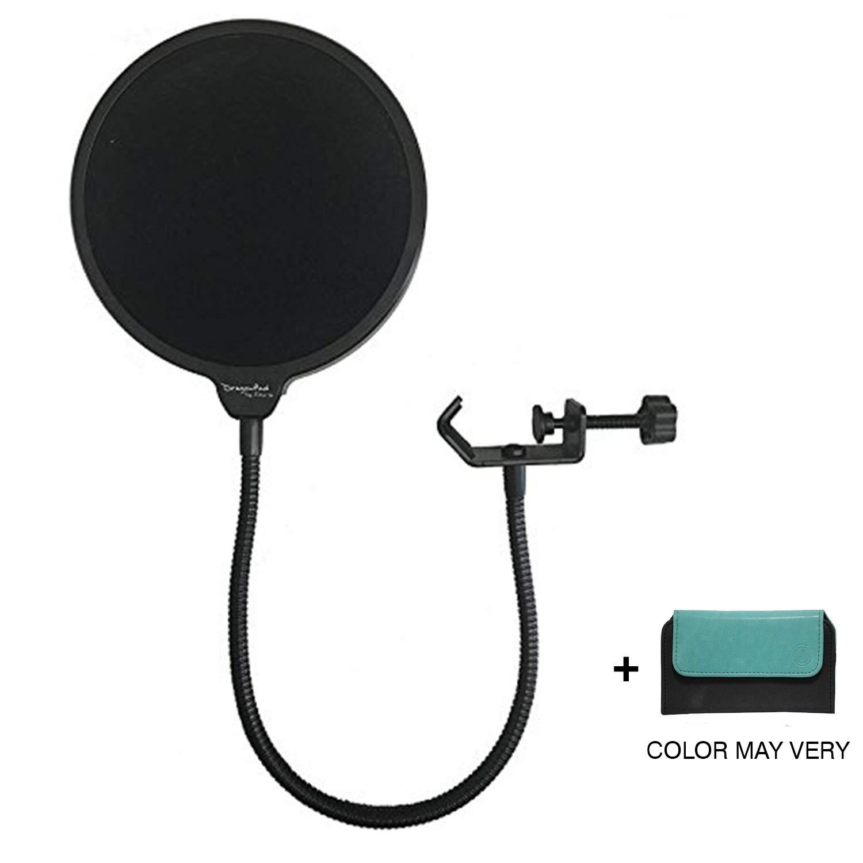 Brain Freezer J Swivel Mount, 360° Flexible Gooseneck Holder Studio Microphone Mic Wind Screen Pop Filter Black product image