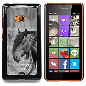 Jordan Colourful Shop - Pony Horse Mane Grey Black Animal For Microsoft Nokia Lumia 540 N540 - < Personalizado negro cubierta de la caja de pl??stico > -