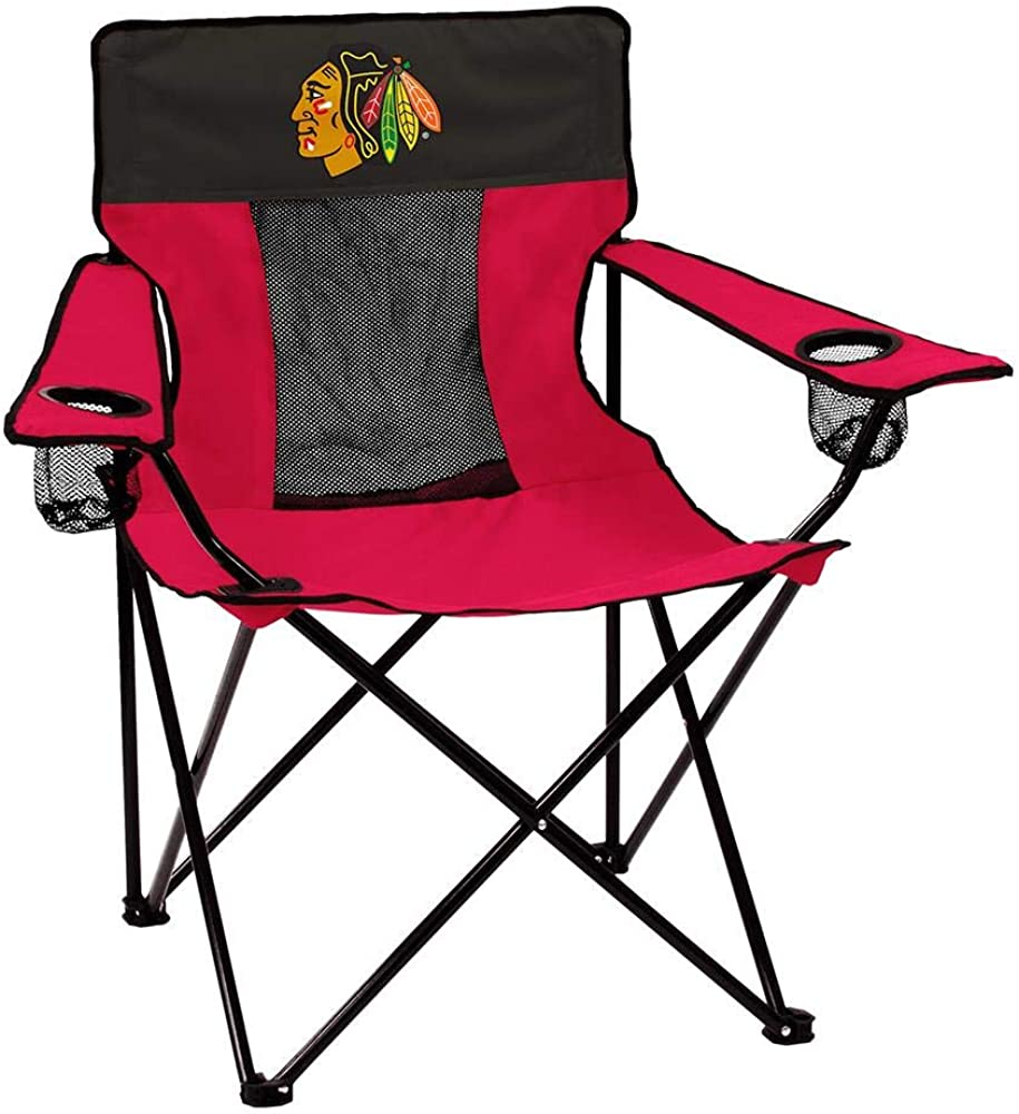 logobrands NHL Folding Elite Chair with Mesh Back and Carry Bag