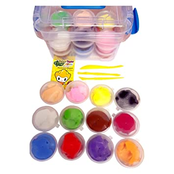 KydzFusion Air Dry Clay For Kids, 12 Colors Super Light Modeling ...