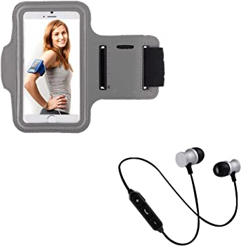 Pack Sport para Xiaomi Redmi 7 Smartphone (Auriculares Bluetooth Metal + Brazalete) Courir T6 (Plata): Amazon.es: Electrónica