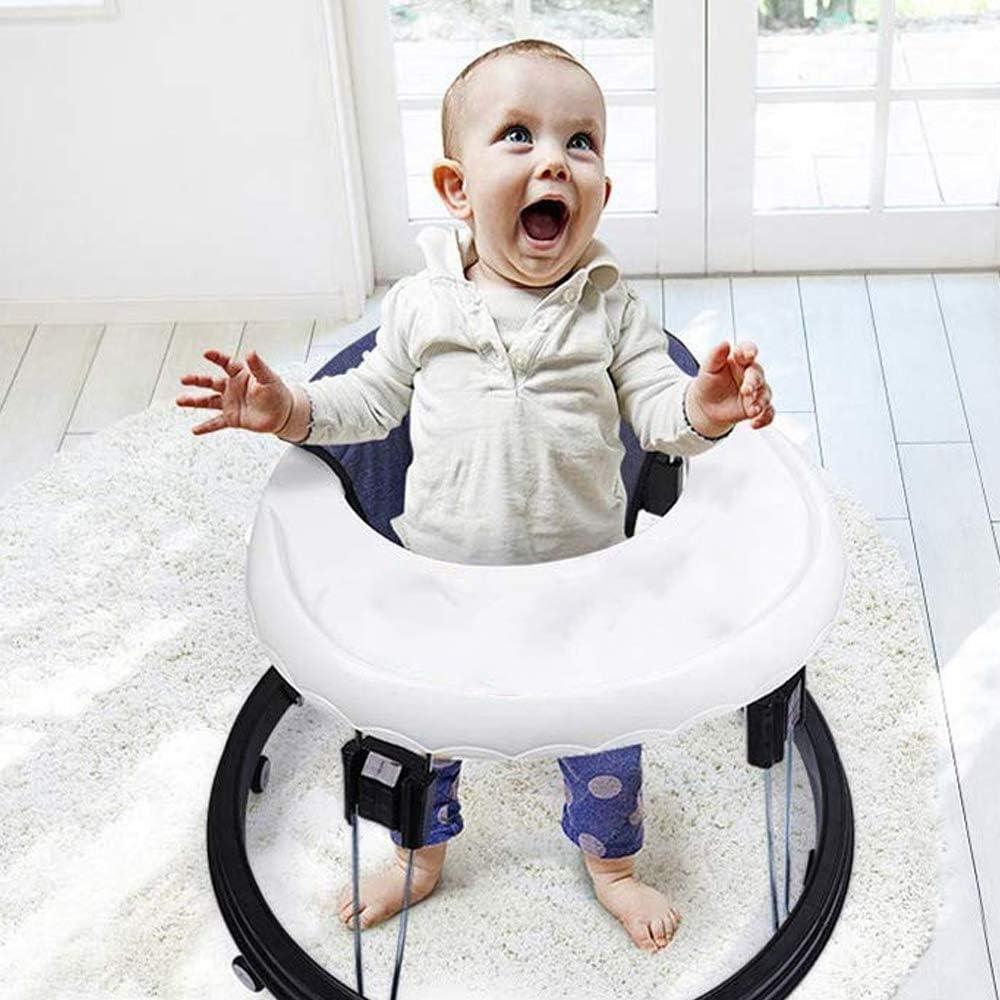 Byfjkkl Baby Walkers Ajuste De 6 Velocidades Multifunci/ón Anti-Rollover Anti-O-Legs Hombres Y Mujeres Ni/ño Walker Range 5-18 Meses,Azul