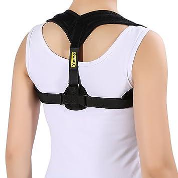 Corrector de postura de hombro, clavícula o cuello. Soporte postural. Terapia para aliviar el dolor y ajustar el cuerpo de Yosoo. Negro: Amazon.es: Salud y ...