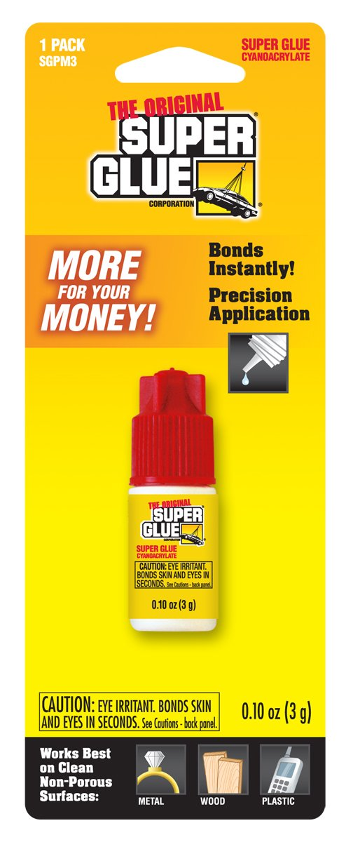 Super Glue Super Glue SGPM3-12 Spill-Resistant Bottle, 12-Pack(Pack of 12)