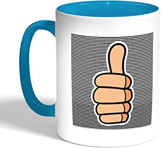 Printed Coffee Mug, Turquoise Color, A sign of success