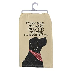 Primitives by Kathy Pet Love Cotton Dish Towel (Watching You)